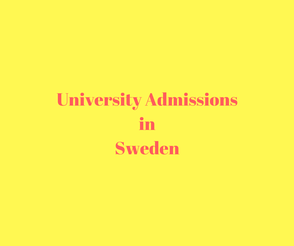 University Admissions in Sweden